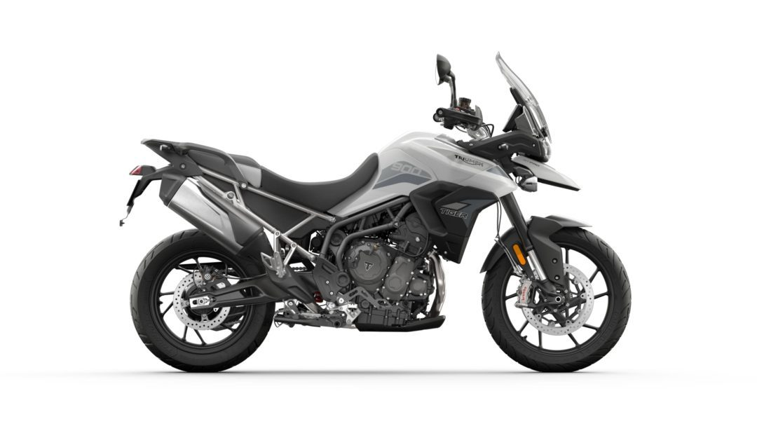 A side view of the 2022 Triumph Tiger 900 GT Pro