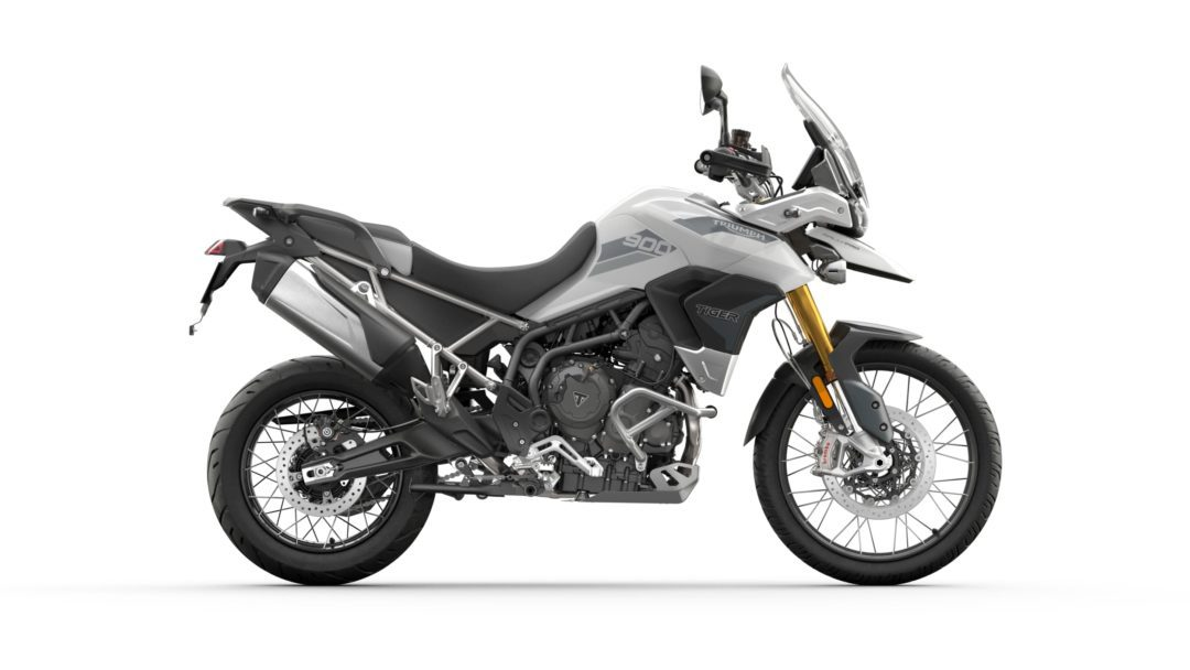 a side view of the 2022 Triumph Tiger 900 Rally Pro
