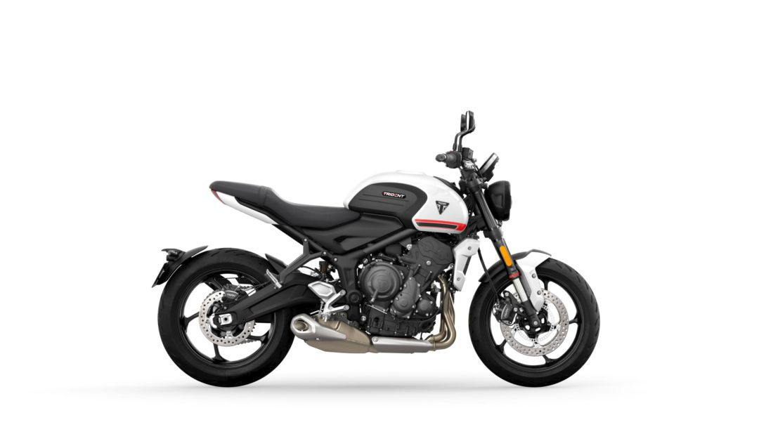 A Side view of the 2022 Triumph Trident 660