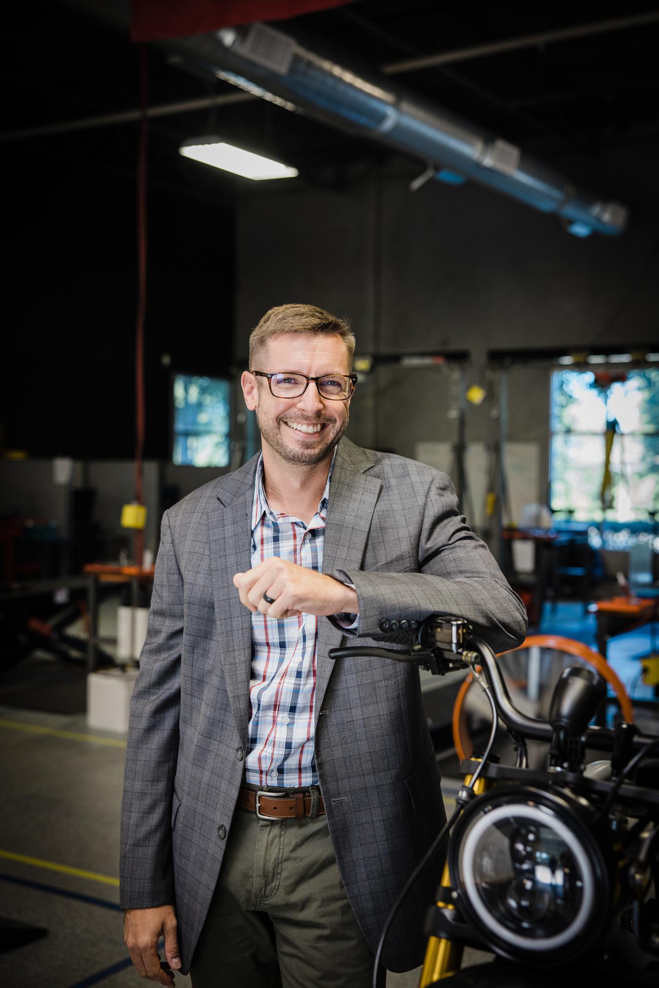Jordan Davis, CEO of Volcon ePowersports.