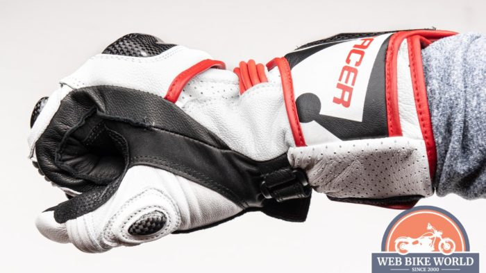 Close up left view of the Hi Per gloves