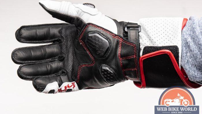Underside view of the Hi-Per gloves