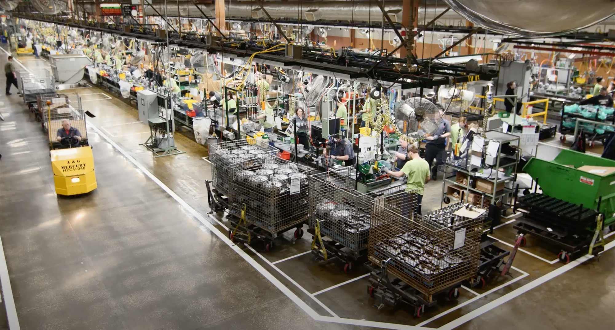 layout view of a Kawasaki factory floor