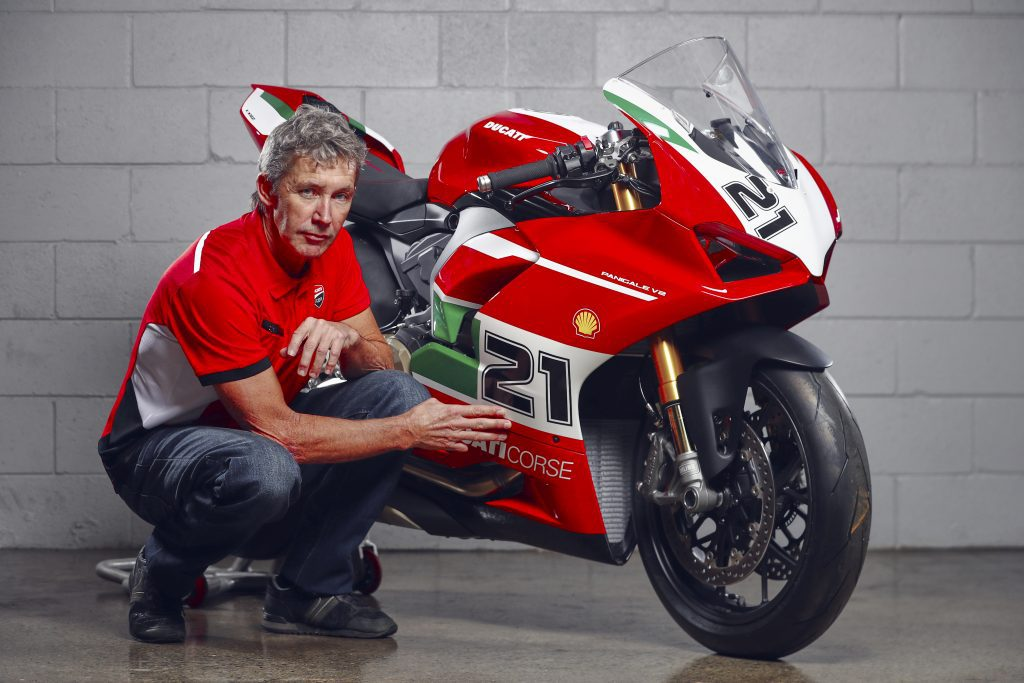 Troy Bayliss with his 1st Championship 20th Anniversary Edition