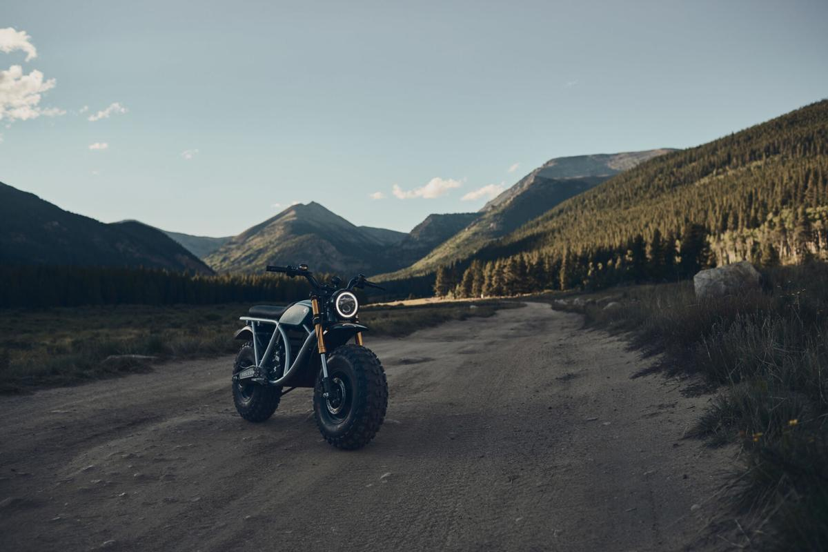 A view of the Grunt, an all-terrain electric motorcycle available from Volcon Powersports