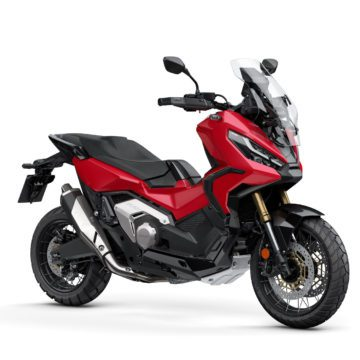 A side view of the all-new Honda ADV350 - the third adventure scooter from Honda, and one likely set for US markets as well as the UK economy