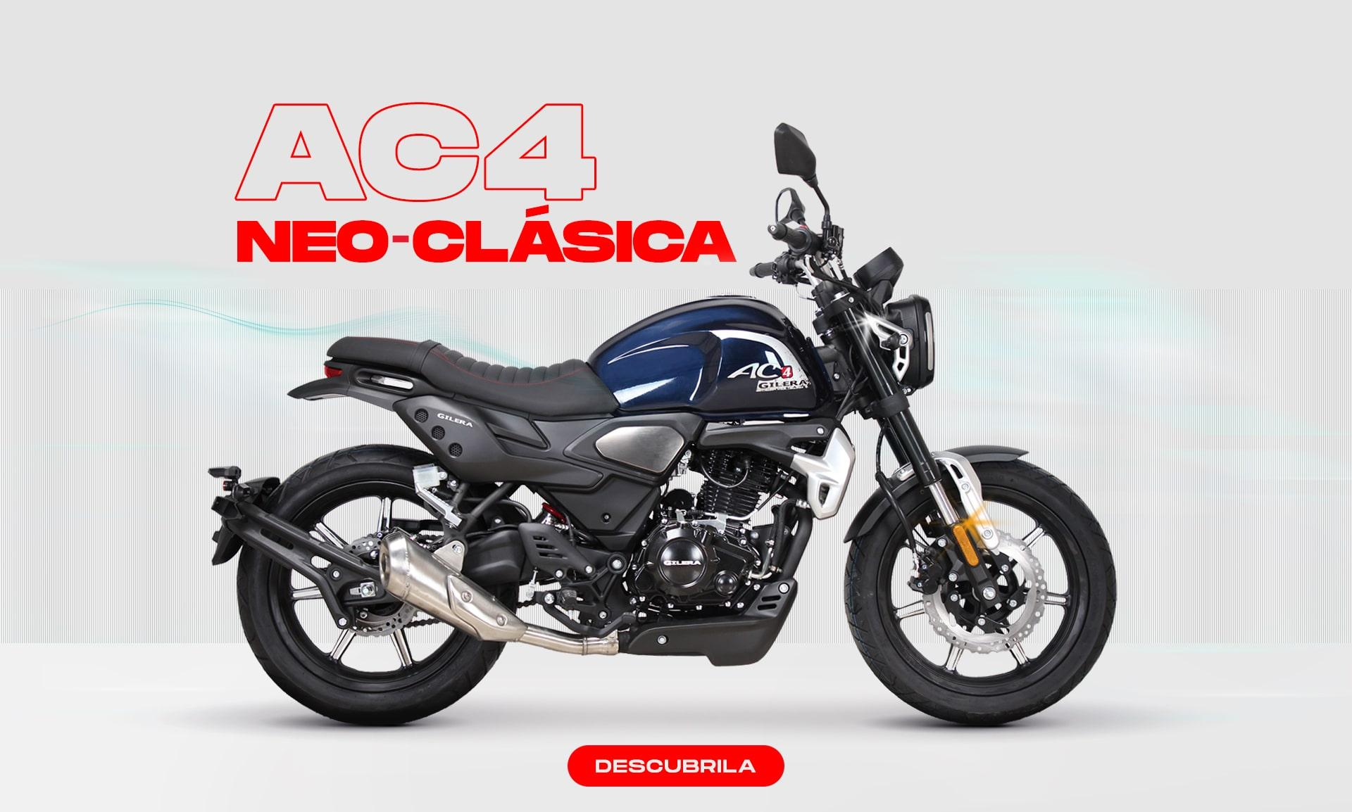 A side view of the AC4 Neo Classic from Gilera Motors