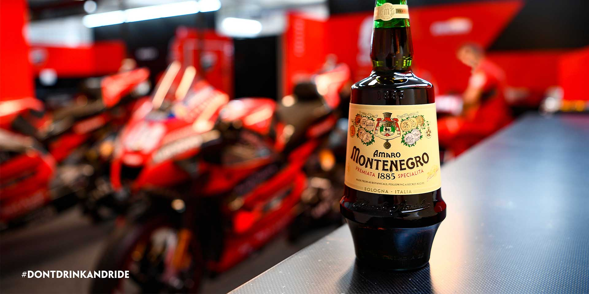 """Ducati and Amaro Montenegro Liqueur Brand Launch """"Don't Drink and Ride"""" Campaign"""