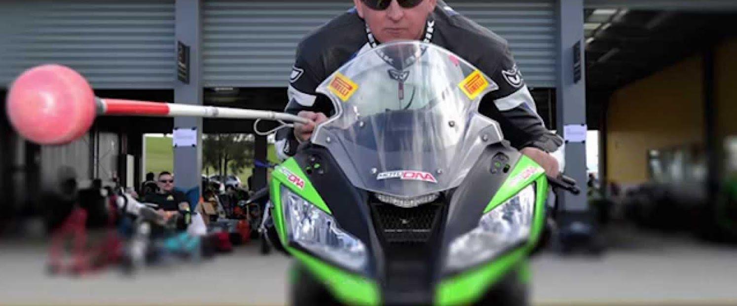 Ben Felton; a blind man on a motorcycle