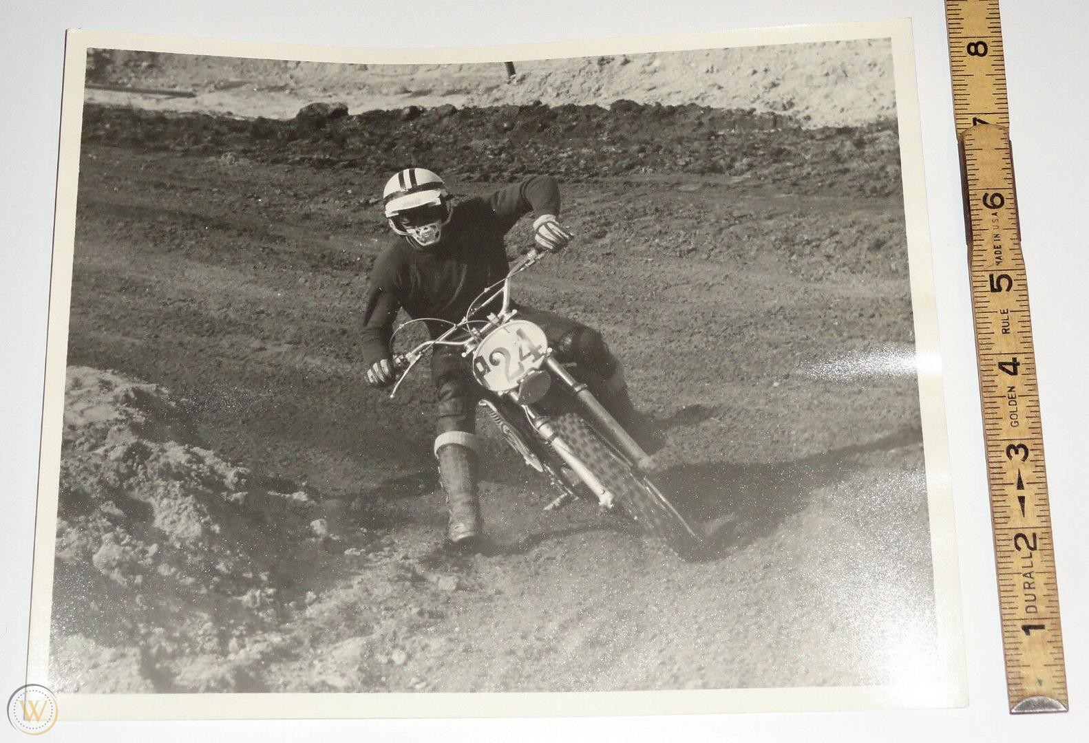 """Steve McQueen on the iconic 1971 Husqvarna 400 Cross, used by Steve McQueen in the movie hit, """"On Any Sunday"""""""